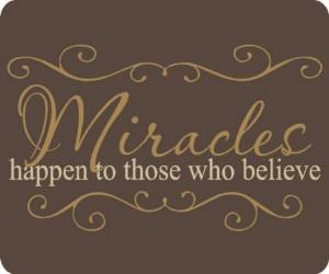 Miracles Do Happen!! :)