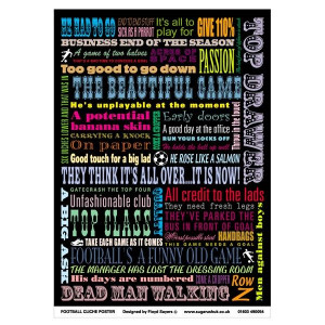 Football quotes colour poster