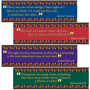 Black American Quotes Mini Bulletin Board Set