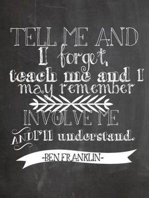 Chalkboard Quote Printable- Teach Me