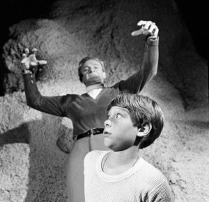 Jonathan Harris (as Dr. Zachary Smith) and Billy Mumy (as Will ...