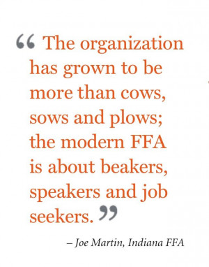... ffa is about beakers speakers and job seekers joe martin indiana ffa