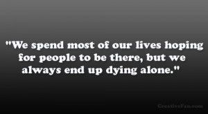 quotes about someone dying