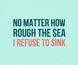refuse to sink⚓