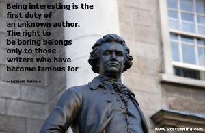 ... who have become famous for - Edmund Burke Quotes - StatusMind.com