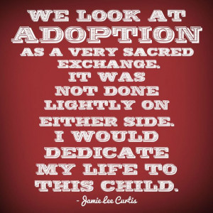 There are no words for the wonderful things adoption can do:)
