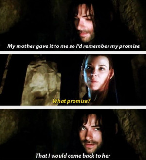 Most popular tags for this image include: the hobbit, kili and tauriel