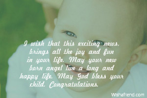 ... news brings all the joy and fun in your life may your new born angel