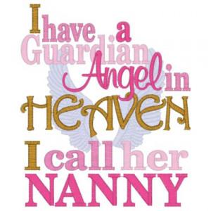 Sayings (3900) Guardian Angel Nanny 5x7 $2.89