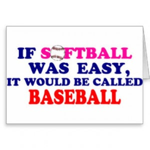 Softball Sayings Cards & More