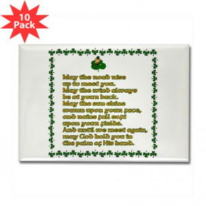 Irish Sayings, Toasts and Ble Rectangle Magnet (10