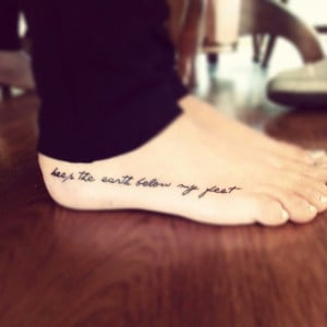 My freshhhh Mumford and Sons foot tattoo