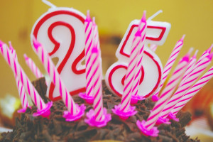 Rich put 25 birthday candles on my cake, including the numbered ones ...