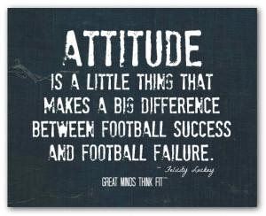 ... between football success and football failure.