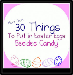 ... up your easter egg hunt instead of just candy why not fill your eggs