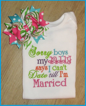 Sorry Boys, embroidery shirt, Cute Saying with M2M Piggy Set. $37.00 ...