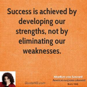 Marilyn vos Savant Success Quotes | QuoteHD