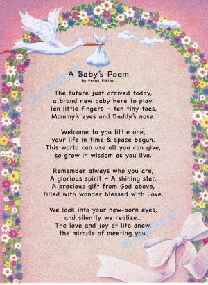 Baby's Poem