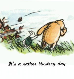 It's a rather blustery day...