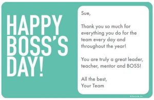 Happy Boss's Day Thank You So Much