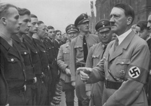 Hitler Picture - Adolf Hitler and Robert Ley Review a Unit of DAF