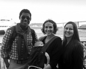 The winners with Sarah Lacy and her stowaway in San Francisco