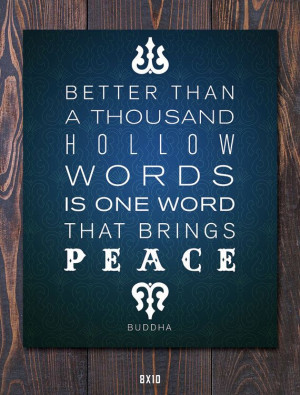 Buddha Peace Quote Giclee Art Print - Mat options - FREE ship in US ...