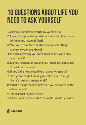 ... be happy, you need to ask yourself these 10 questions every morning