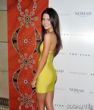 Kendall Jenner: Hot-To-Trot In A Yellow Bandage Dress. A model has ...