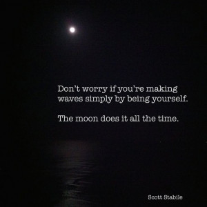 The moon makes waves.