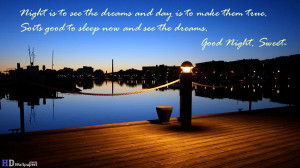 Good night quote my love and sweet dreams wallpaper