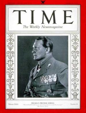 Time - Hermann Göring - Aug. 21, 1933 - Hermann Goring - World War I ...