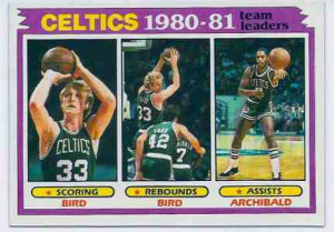 ... 45 Larry Bird - Boston Celtics 'Team Leaders' Basketball cards value