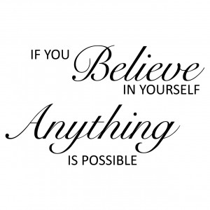 Details about If You Believe In Yourself Quote Wall Stickers / Wall ...