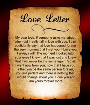 For Me Love is You - Letter