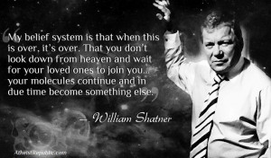 William Shatner on Heaven and Afterlife