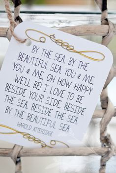 beside your side, beside the sea More