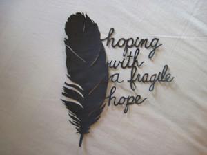 black, broken, feather, fragile, hope, hoping
