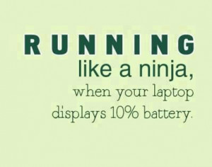 Running like a ninja