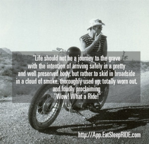 Words of Wisdom from Men Who Rode Motorcycles