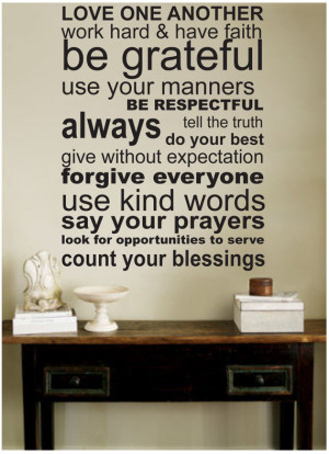 decal wall stickers LOVE ONE ANOTHER wall quotes