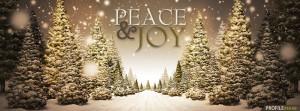 Peace & Joy Christmas Tree Facebook Cover