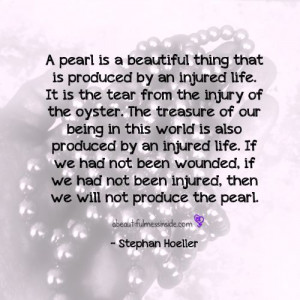 Inspirational Quotes: Stephen Hoeller, pearls, oyster