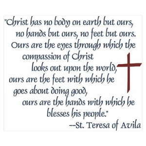 CafePress > Wall Art > Posters > St. Teresa of Avila Quote Poster