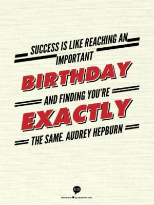 Birthday Quote - Audrey Hepburn - TodaysMama.com