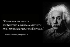 Albert einstein the universe and human stupidity quote