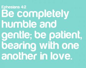 Spread the Love: Ephesians 4:2