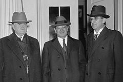 The top three leaders of the CIO John L Lewis left Sidney Hillman