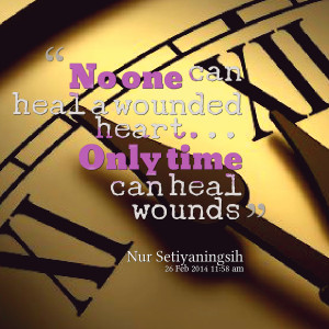 Quotes Picture: no one can heal a wounded heart only time can heal ...