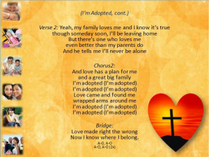 """Sing Time PowerPoint slide for verse two of """"I'm Adopted."""""""